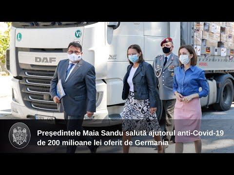 Republica Moldova a primit un lot de ajutor în valoare de peste 200 de milioane de lei din partea Germaniei, pentru lupta cu pandemia