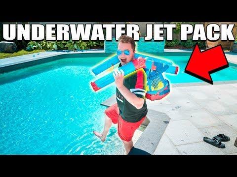 UNDERWATER JETPACK CHALLENGE!!