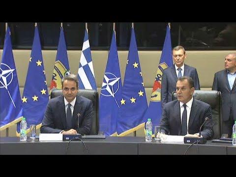 Επίσκεψη στο υπουργείο Άμυνας πραγματοποιεί ο πρωθυπουργός, Κυριάκος Μητσοτάκης