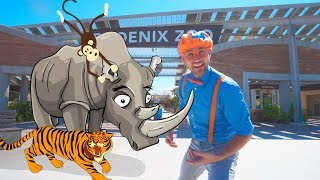 Blippi Visits the Zoo | Fun Animals for Children and Toddlers