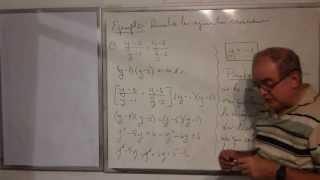 Algebra Intermedia - Lección 31 - B (la Prueba De La Ecuación Fraccionaria)