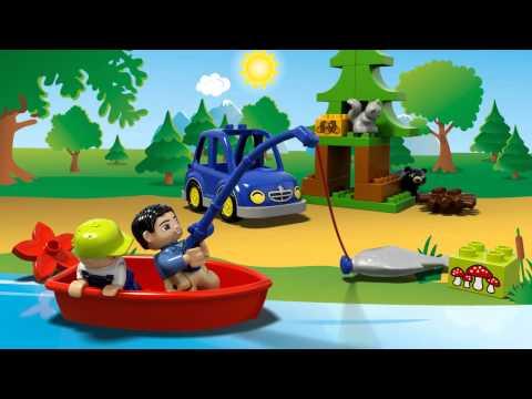 Конструктор Рыбалка в лесу - LEGO DUPLO - фото № 4