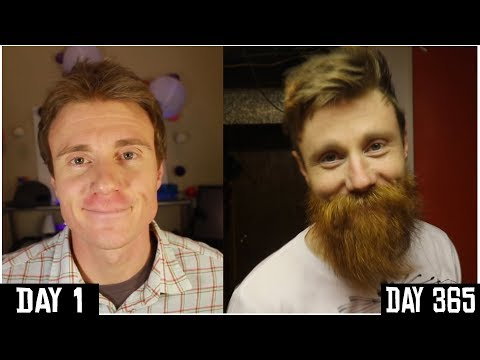ONE YEAR BEARD TIME LAPSE | DAY 1 to 365 | Growing A BEARD for 1 YEAR | Yeard Journey