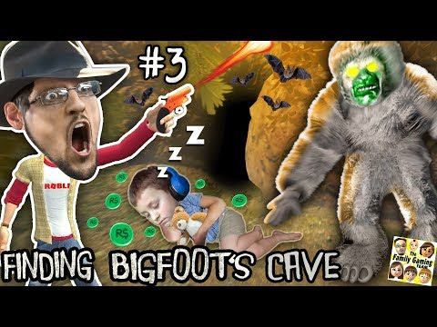 FINDING BIG FOOTS CAVE w/ SLEEPY CHASE Prank! FGTEEV #3 - FREE ROBLOX ROBUX TRAP! HAHA (видео)