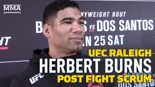 UFC Raleigh: Herbert Burns 'Came Here to Make Noise' After KO in UFC Debut - MMA Fighting by MMA Fighting