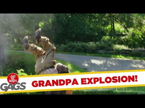Grandpa Blown Up Real Good Prank - Youtube