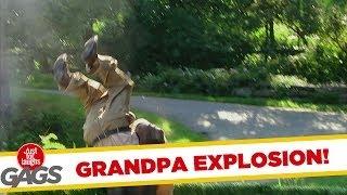 Grandpa Blown Up Real Good Prank