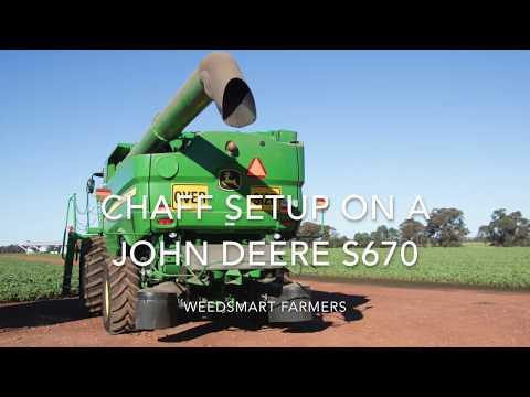 WS John Deere header and chaff deck setup