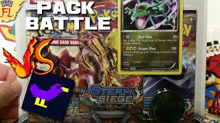 Opening a Rayquaza Steam Siege 3-Pack Blister vs DontFightDucks - Pack Battle! by Flammable Lizard