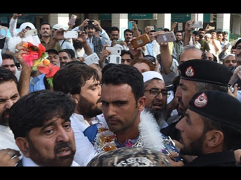 Pakistani cricketer Fakher Zaman reached home