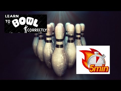 Learn How to Bowl in 5 Minutes (Bowling for Kids Beginners Dummies Fast Now Easy Strike Cómo Cuenco)
