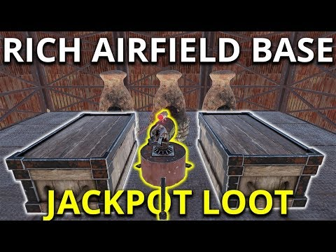 Crazy Rich Airfield Base! Loot Jackpot – Rust Solo Survival Gameplay