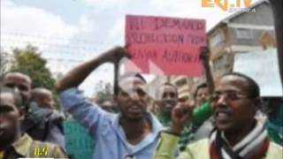 Eri-TV - Huge Ethiopian Oromo Student Protest In Different Cities