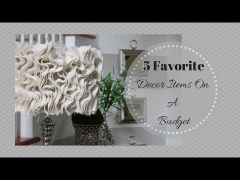 Favorite - I hope you enjoy this video where I shares 5 of my favorite home decor items on a budget around my home. This is a collaboration video with the youtube channels HayleysWifeStyle and MommyGoodness....