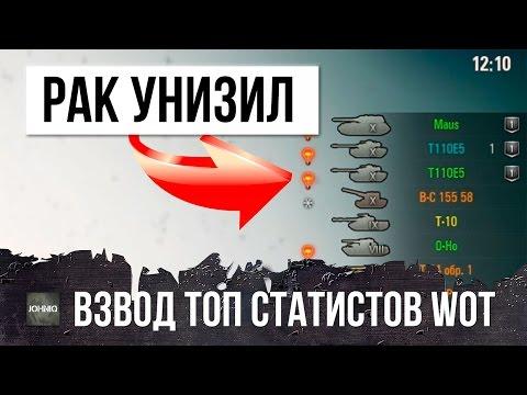 РАК В ОДИНОЧКУ УНИЖАЕТ ВЗВОД ТОП СТАТИСТОВ WОТ ЭТО РАНДОМ WОRLD ОF ТАNКS - DomaVideo.Ru
