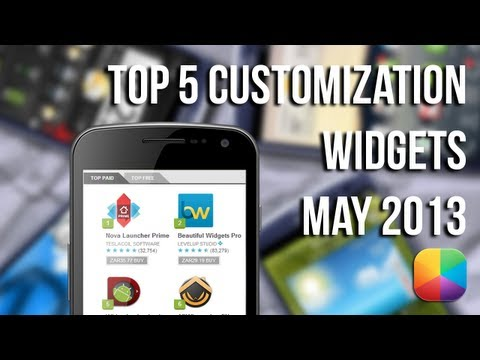 Top Customization Widgets &#8211; May 2013