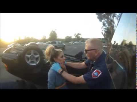 Motorcyclist rescues girl from car