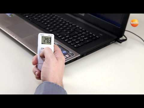 testo 184 USB Data Logger - Step 3 - How to set up time mark