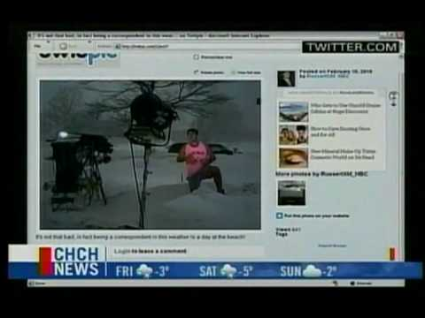 CHCH Matt Hayes mentions my Youtube clips plus some weather related bloopers