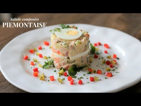 How To Make A Piémontaise Potato Salad (using A Food Stacker Ring)