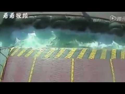 女司機駕車強行登船,導致很可怕的事情發生! 自以為演特技?!