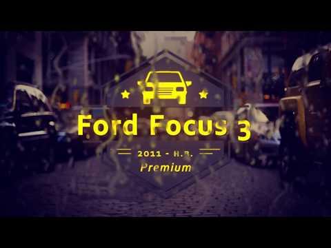 """Чехлы на Ford Focus 3 Titanium, серии """"Premium"""" - серая строчка"""