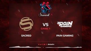 Sacred против Pain Gamin, Первая карта, Квалификация на Dota Summit 8