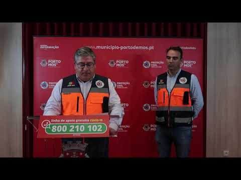 Comunicado Presidente da Câmara Municipal de Porto de Mós - COVID-19 - 27-03-2020