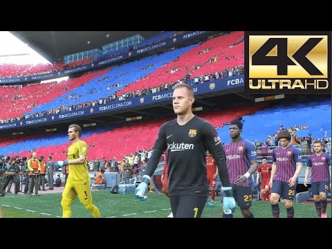 PES 2019 4K 60 FPS Gameplay Barcelona Vs Liverpool (Xbox One, PS4, PC)