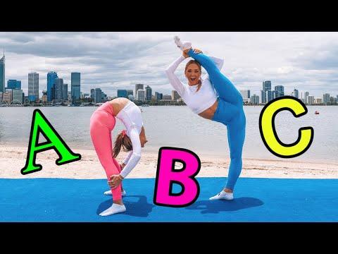 ABC ACRO GYMNASTICS CHALLENGE! | The Rybka Twins