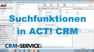 Suchfunktionen in ACT! CRM - ACT! Tutorial deutsch