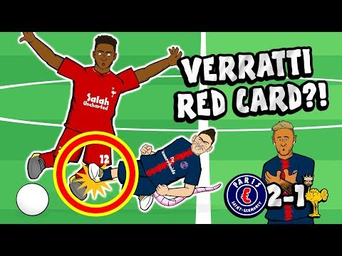 🔴VERRATTI RED CARD?!🔴 PSG Vs Liverpool 2-1(Parody Goals Highlights Champions League Neymar Bernat)