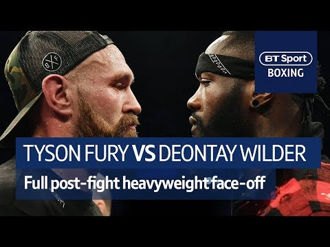 IT'S ON! Tyson Fury and Deontay Wilder FULL post-fight confrontation at Windsor Park (видео)