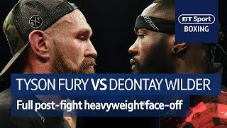 IT'S ON! Tyson Fury and Deontay Wilder FULL post-fight confrontation at Windsor Park