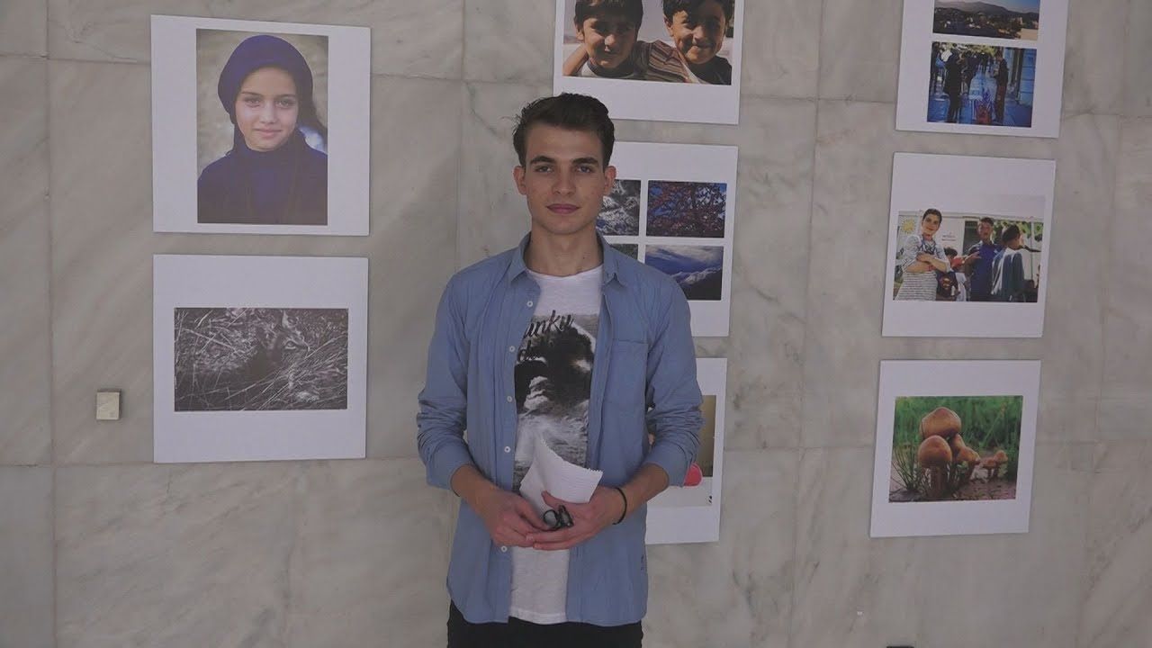 Εγκαίνια έκθεσης, του Μουσταφά Ομάρ, ενός ασυνόδευτου παιδιού από τη Συρία