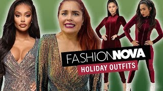 We Try Fashion Nova Holiday Outfits!! by Clevver Style