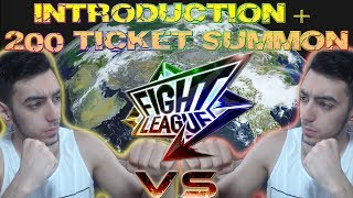 ALLOW ME TO INTRODUCE YOU TO FIGHT LEAGUE + 200 TICKET SUMMON!   Fight League Gameplay