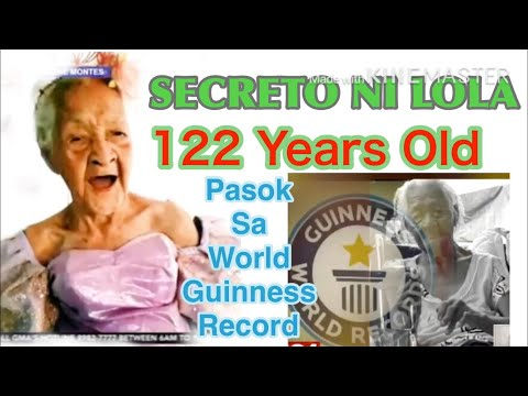 LOLA FRANCISCA SUSANO || 122 YEARS OLD || THE OLDEST LIVING PERSON ON EARTH || World Guinness Record