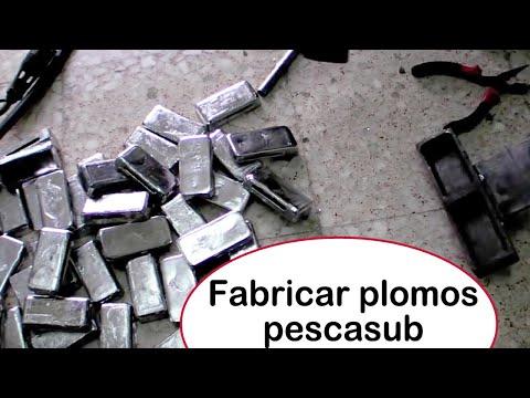 plomos - en este video bricosub muestro como me fabrico los plomos de 500 gramos que uso en mi cinturón, en el video también aparecen las medidas de los plomos así po...