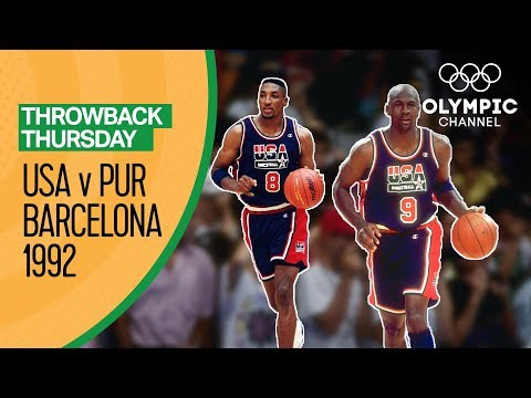 Team USA v Puerto Rico - Basketball Qtr.-Final Barcelona 1992 - Condensed Game | Throwback Thursday