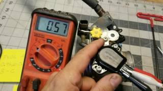 10. 2011 honda CRF450 throttle position sensor adjustment