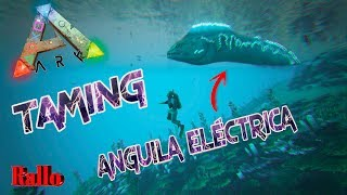 Anguila eléctrica un animal acuático muy bueno para defender tu base acuática se tamea co kibble de pingüino,recomiendo usar como yo vida extra con botellas ...