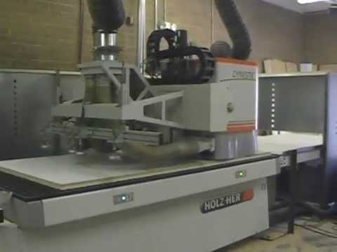 Holz-Her Dynestic CNC router in action at Aspen Cabinetry