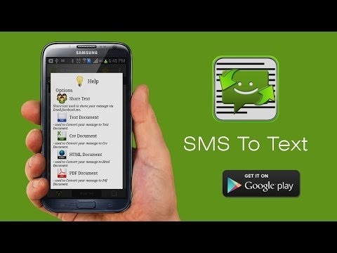 Video of SMS to (Text,PDF,Share SMS)