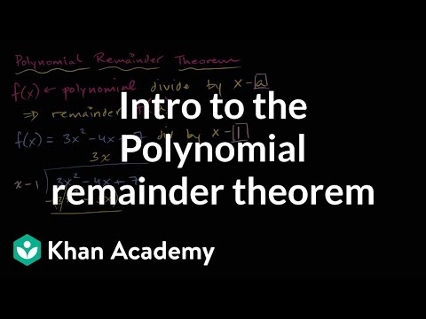 how to use the remainder theorem