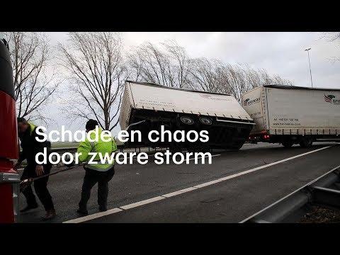 Schade en chaos door zware storm - RTL NIEUWS
