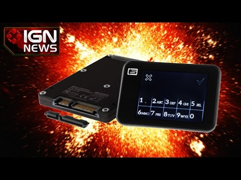 Drive - Reminiscent of something from Mission: Impossible, the Autothysis128t is a hard drive you can make self-destruct with a text message should you lose it or if it happens to fall into the wrong hands.
