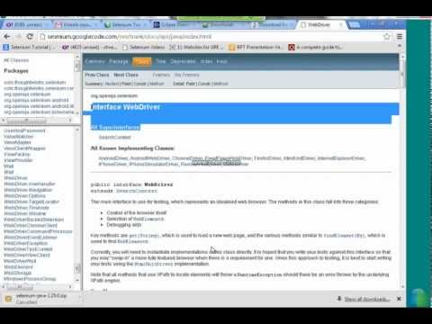 Vineela - This selenium online training Video gives an introduction to Selenium Webdriver, History Of Selenium Webdriver, Programming languages supported by Selenium W...