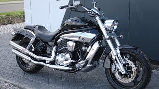 8. 2011 HYOSUNG GV650 CUSTOM BLACK SCORPION CANS @ West Coast Moto, Glasgow, Scotland