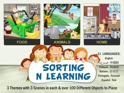 Video of Sorting n Learning game 4 Kids